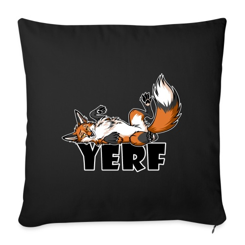 """Lazy YERF FOX / FOXES - Throw Pillow Cover 17.5"""" x 17.5"""""""