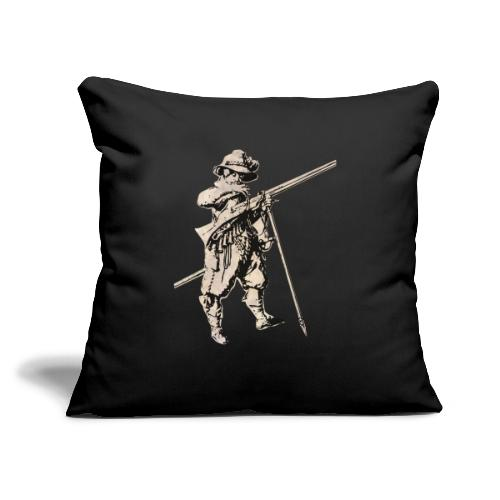 """Soldier with mosquet - Throw Pillow Cover 17.5"""" x 17.5"""""""