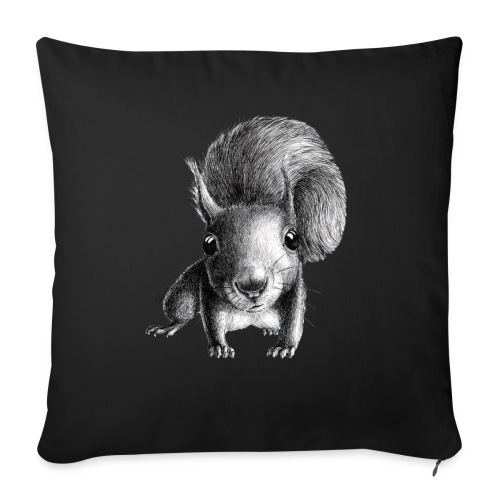 """Cute Curious Squirrel - Throw Pillow Cover 17.5"""" x 17.5"""""""