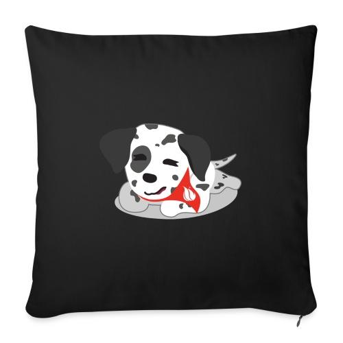 "Sparky sleeping - Throw Pillow Cover 17.5"" x 17.5"""