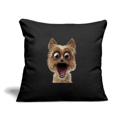 "Dog puppy pet surprise pet - Throw Pillow Cover 17.5"" x 17.5"""
