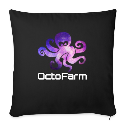 "Logo text - Throw Pillow Cover 17.5"" x 17.5"""