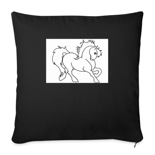 "horse - Throw Pillow Cover 17.5"" x 17.5"""
