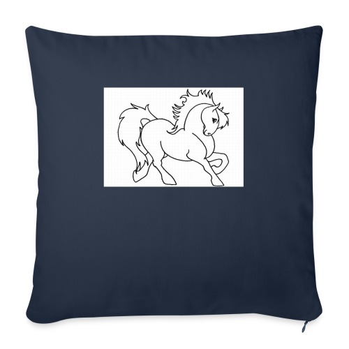 "horse - Throw Pillow Cover 18"" x 18"""