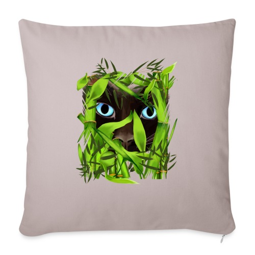 """Siamese Cat Eyes in Bambo - Throw Pillow Cover 17.5"""" x 17.5"""""""