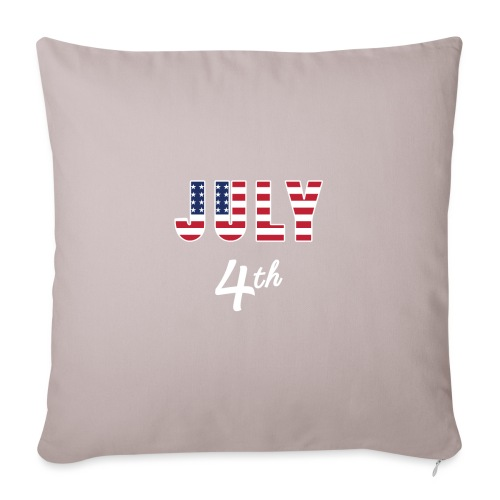 "July 4th - Throw Pillow Cover 18"" x 18"""