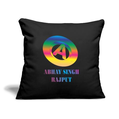 "abhay - Throw Pillow Cover 17.5"" x 17.5"""