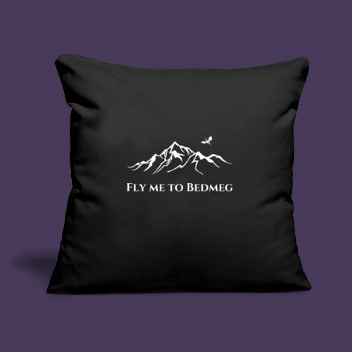"Fly Me to Bedmeg (white) - Throw Pillow Cover 17.5"" x 17.5"""