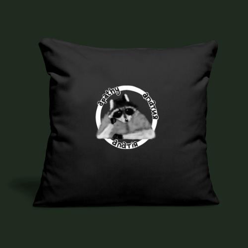 "Apathy Raccoon - Throw Pillow Cover 17.5"" x 17.5"""