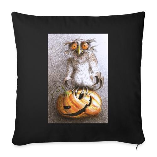 "Vampire Owl - Throw Pillow Cover 18"" x 18"""