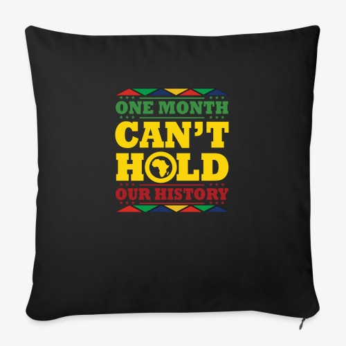 "One Month Can't Hold Us - Dashiki Pride - Throw Pillow Cover 17.5"" x 17.5"""