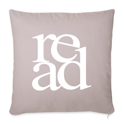 """Read Bookworm Teachers T-Shirts - Throw Pillow Cover 17.5"""" x 17.5"""""""