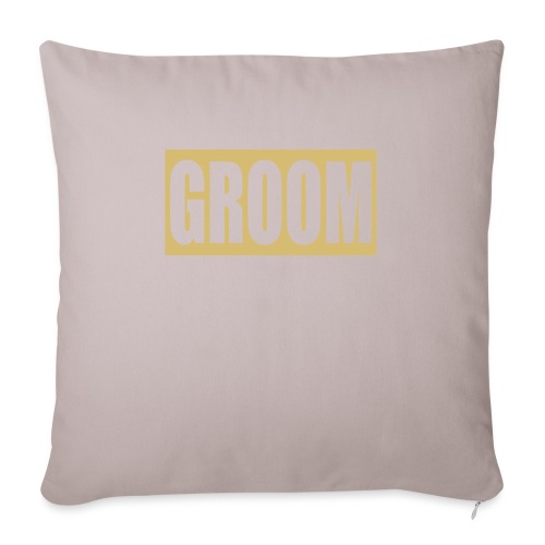 "Groom Engagement Wedding - Throw Pillow Cover 18"" x 18"""