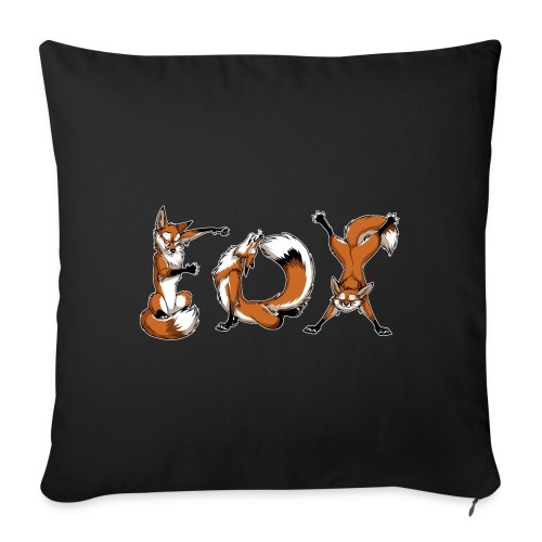 "YOGA Foxes - Throw Pillow Cover 17.5"" x 17.5"""