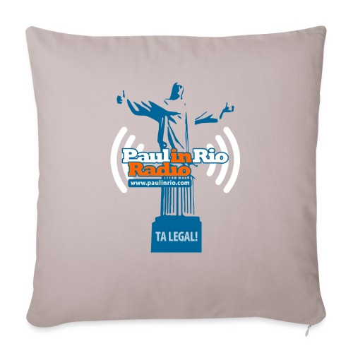 """Paul in Rio Radio - The Thumbs up Corcovado #2 - Throw Pillow Cover 17.5"""" x 17.5"""""""