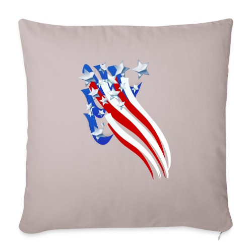 """Sweeping Old Glory - Throw Pillow Cover 18"""" x 18"""""""