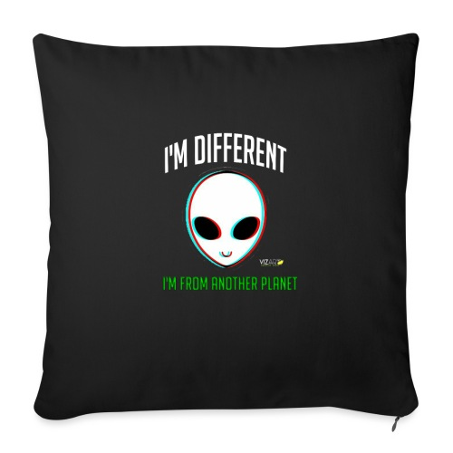 "I'm different - Throw Pillow Cover 18"" x 18"""