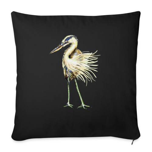 """Great Blue Heron - Throw Pillow Cover 17.5"""" x 17.5"""""""