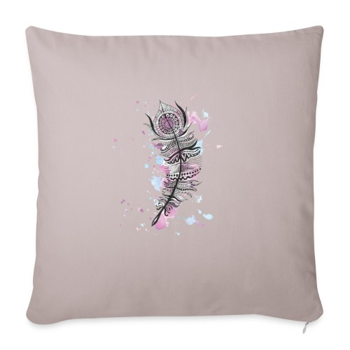 "feather - Throw Pillow Cover 18"" x 18"""