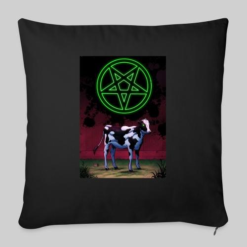 "Satanic Cow - Throw Pillow Cover 17.5"" x 17.5"""