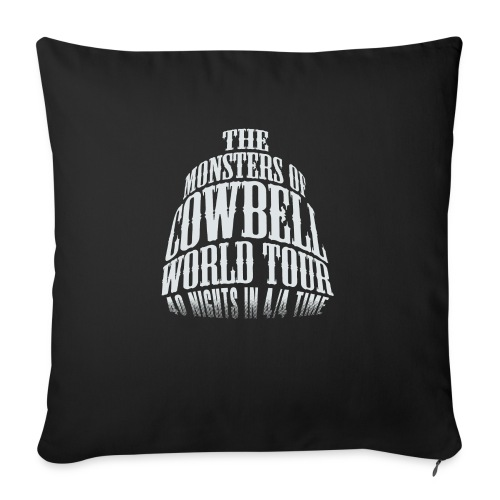 """monstersofcowbellfront - Throw Pillow Cover 17.5"""" x 17.5"""""""