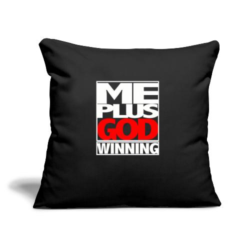 """ME GOD WIN WHT - Throw Pillow Cover 18"""" x 18"""""""
