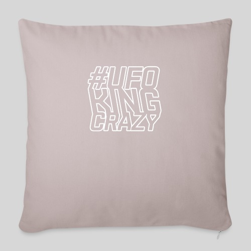 """ALIENS WITH WIGS - #UFOKingCrazy - Throw Pillow Cover 17.5"""" x 17.5"""""""