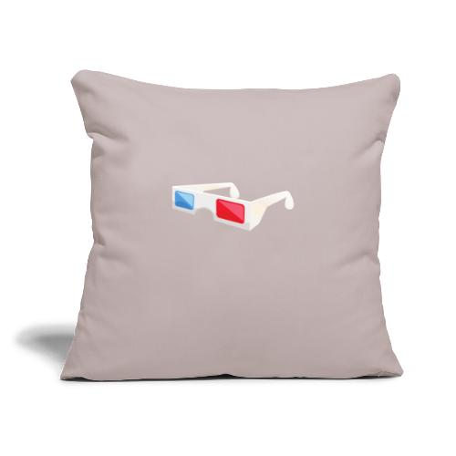 """3D glasses - Throw Pillow Cover 17.5"""" x 17.5"""""""