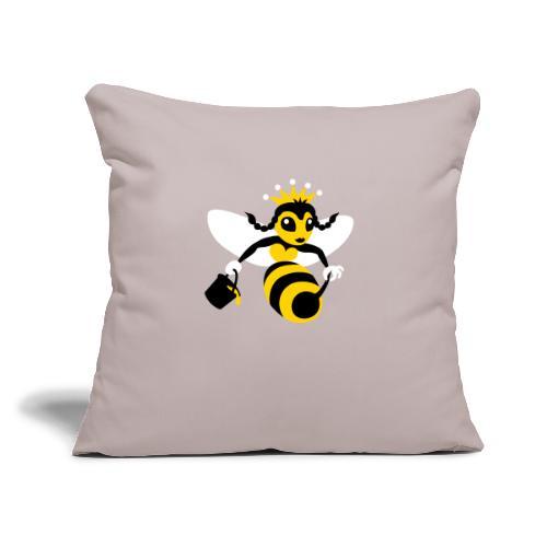"Queen Bee - Throw Pillow Cover 17.5"" x 17.5"""