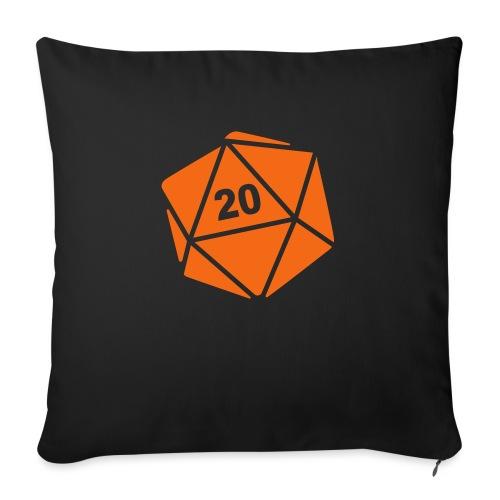 "D20 Winter Toque - Throw Pillow Cover 17.5"" x 17.5"""