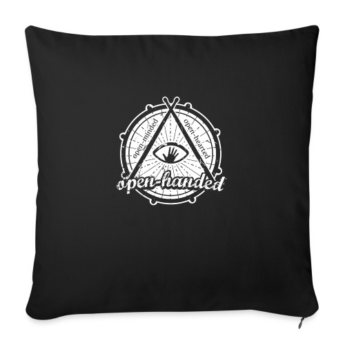 "Open-Handed - Throw Pillow Cover 17.5"" x 17.5"""