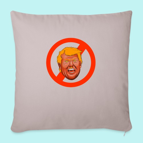 "Dump Trump - Throw Pillow Cover 17.5"" x 17.5"""