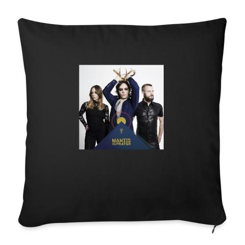 "Mantis and the Prayer - Pyramid Design - Throw Pillow Cover 17.5"" x 17.5"""
