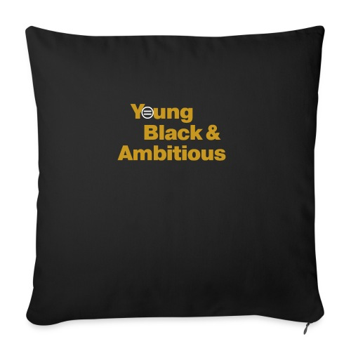 "YBA Black and Gold Shirt2 - Throw Pillow Cover 18"" x 18"""