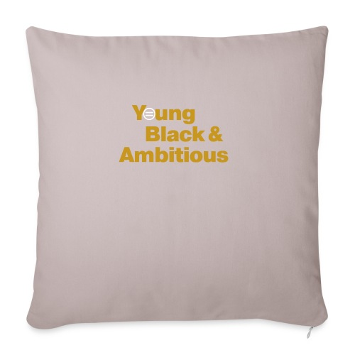 "YBA Black and Gold Shirt2 - Throw Pillow Cover 17.5"" x 17.5"""