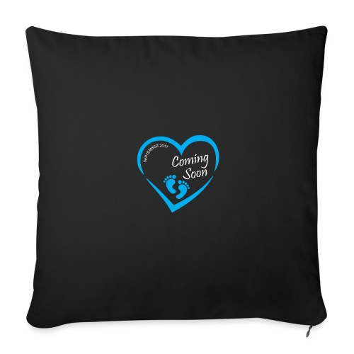 """Baby coming soon - Throw Pillow Cover 17.5"""" x 17.5"""""""