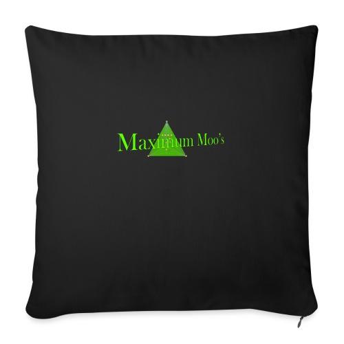 "Maximum Moos - Throw Pillow Cover 18"" x 18"""