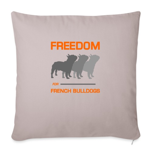 """French Bulldogs - Throw Pillow Cover 18"""" x 18"""""""