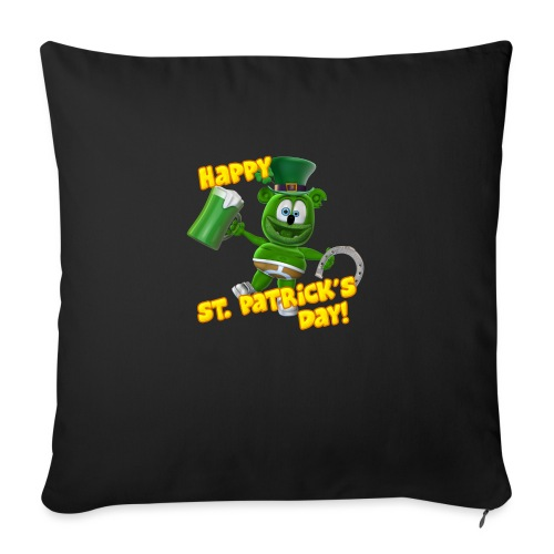 "Gummibär (The Gummy Bear) Saint Patrick's Day - Throw Pillow Cover 17.5"" x 17.5"""