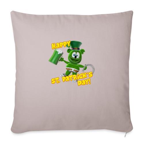 "Gummibär (The Gummy Bear) Saint Patrick's Day - Throw Pillow Cover 17.5"" x 17.5"""