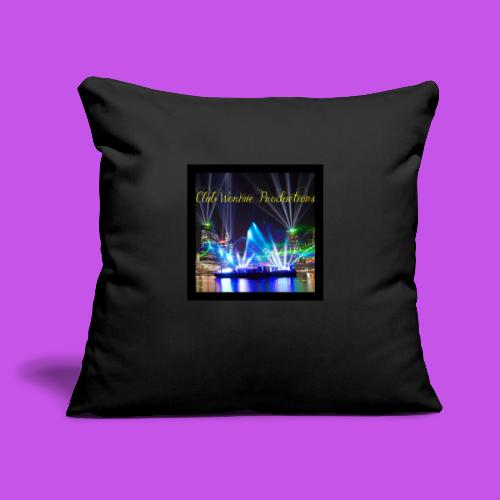 """Club Wormie Productions 3 - Throw Pillow Cover 18"""" x 18"""""""