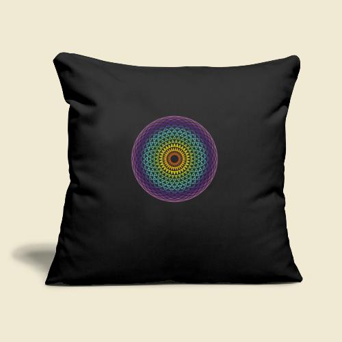 "Torus Yantra Hypnotic Eye rainbow - Throw Pillow Cover 17.5"" x 17.5"""