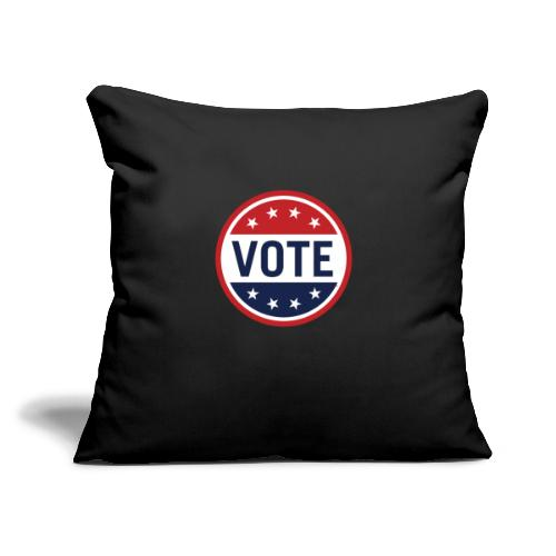 "Vote Red, White and Blue with Stars - Throw Pillow Cover 17.5"" x 17.5"""
