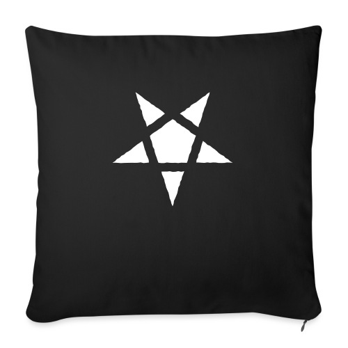 "Rugged Pentagram - Throw Pillow Cover 17.5"" x 17.5"""