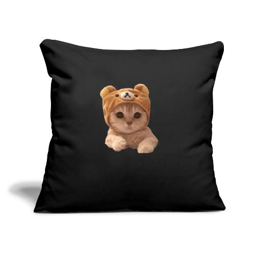 """uwu catwifhat - Throw Pillow Cover 17.5"""" x 17.5"""""""