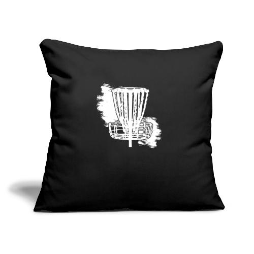 "Disc Golf Basket White Print - Throw Pillow Cover 18"" x 18"""