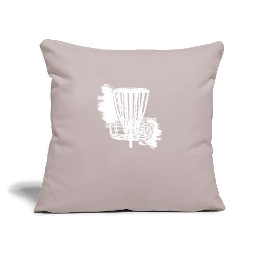 "Disc Golf Basket White Print - Throw Pillow Cover 17.5"" x 17.5"""