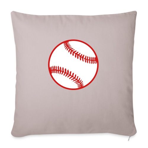 "Baseball 2 color Team shirt - Throw Pillow Cover 17.5"" x 17.5"""