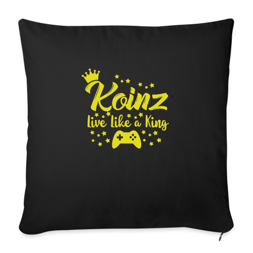 """Live Like A King - Throw Pillow Cover 17.5"""" x 17.5"""""""