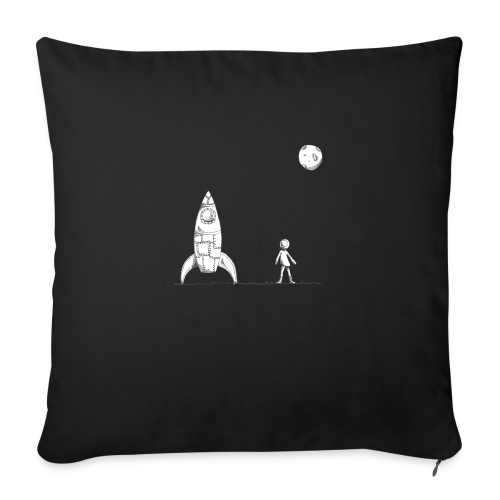"""rocket to the moon - Throw Pillow Cover 18"""" x 18"""""""